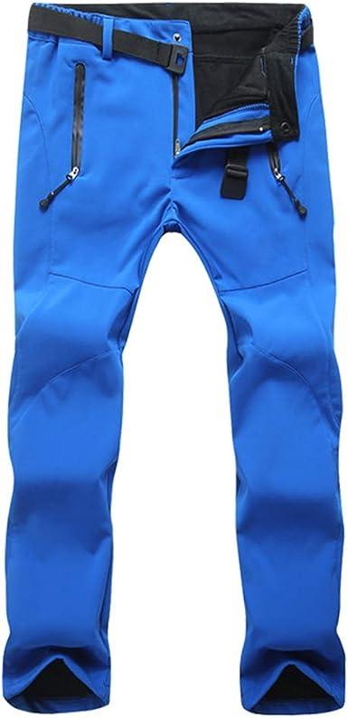 XFentech Pantalones Escalada - Pantalones de Snowboard de Esquí Impermeable para Hombre Mujer Cálido Otoño Invierno Pantalones