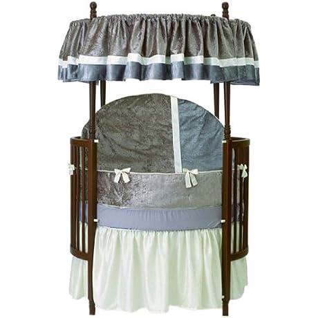 Baby Doll Bedding Round Crib Bedding Set Olive 8 Piece