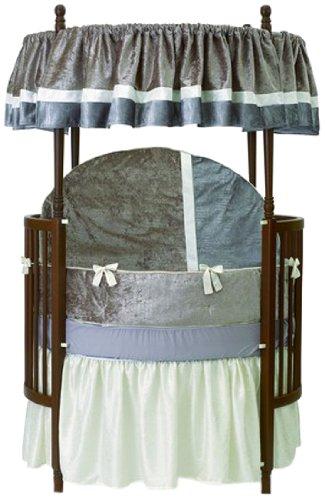 Baby Doll Round Crib Bedding Set Olive 8 Piece