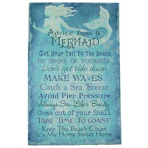 Advice Mermaid Canvas Seaside Coastal