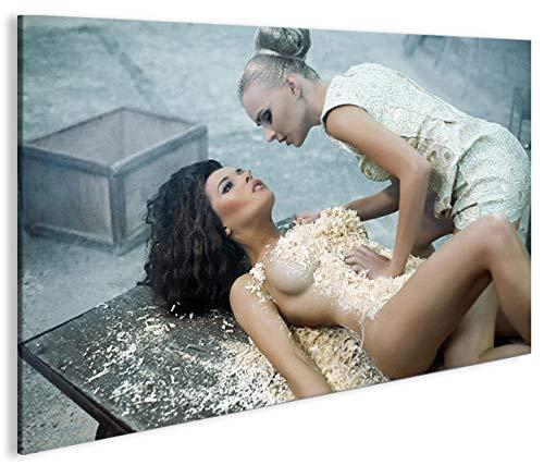 Quadro moderno arte Erotica V3Artful Nude Impresión sobre lienzo–Quadro X sillones salón cocina muebles oficina casa–Fotográfica Tamaño XXL por islandburner