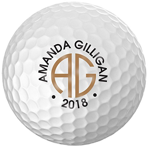 Infusion Personalized Name & Year Golf Balls - Customize The Name and Year (12 Balls) ()