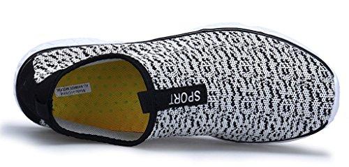 Schnell Wasserschuhe Trocknend Slip Schwimmschuhe Grau Aquaschuhe Strandschuhe Schuhe Atmungsaktiv XKMON on Damen qOT8EBw1