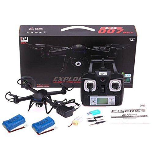 Lookatool® 2.4G 4CH 6 Axis RC Quadcopter Drone With 2MP HD Camera RTF + 2PC Battery (2 Mp Bluetooth)