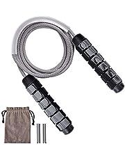 Queta Speed Rope Springtouw, met kogellagers voor kinderen en volwassenen, lengte instelbaar, anti-slip handgrepen, verstelbaar, duurzaam, voor fitness en training