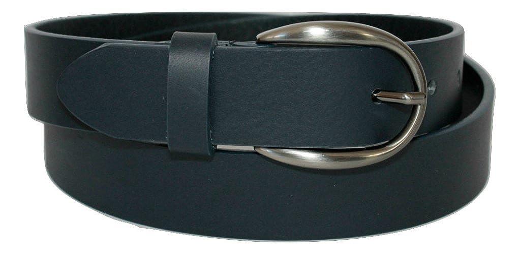 Accorciabile Donna Colore Blu Scuro ITALOITALY Cintura in Vera Pelle Italiana Produzione Artigianale Made in Italy Alta 3cm