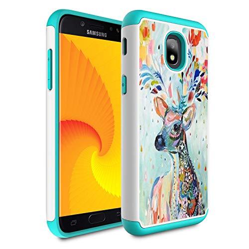 - Galaxy j3 2018/J3 Achieve/Express Prime 3/j3 Star/J3 V 3rd Gen 2018/j3 Orbit case,Skyfree Heavy Duty Dual Layer Bumper Protective Phone Case for Samsung Galaxy J3 2018,Water Color Deer