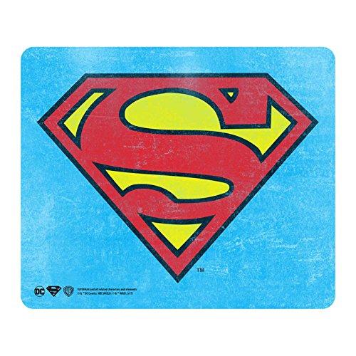 Superman Mouse Mat Pad Classic Shield Logo Official Dc Comics Blue