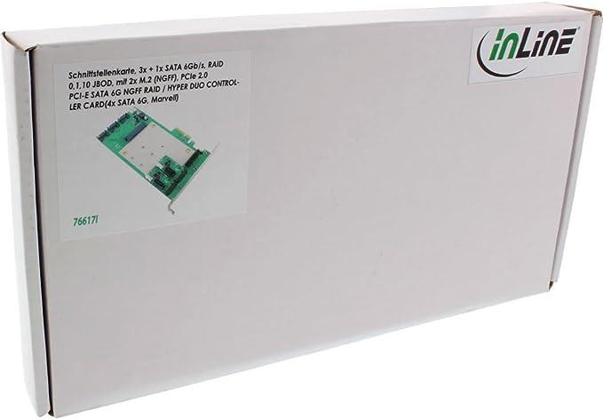 Inline 76617i Schnittstellenkarte 3x 1x Sata 6gb Computer Zubehör