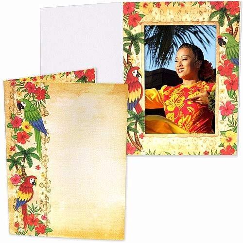 Our Colorful Tropical Parrot Luau Photo Event Folder
