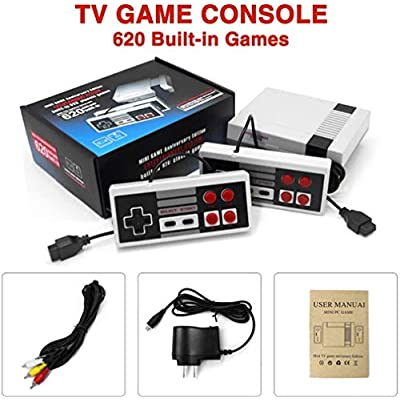 NQMEKOF Classic Game Handheld Console PIug Play Classic Game 620 Games Classic Console, Console,Built-in of Retro: Toys & Games