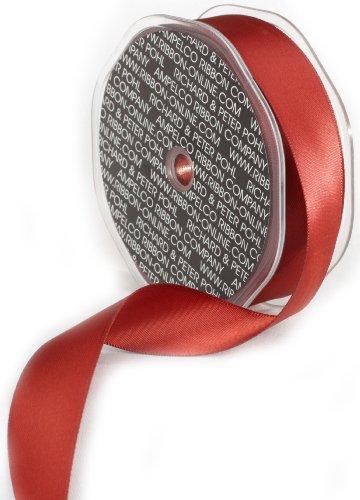 Ampelco Ribbon Company Double Face Satin Ribbon Company, 1-Inch by 27-Yard, (Rust Satin Ribbon)