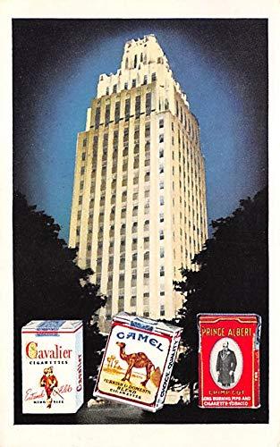 Tobacco Post Card Camel, Cavalier Cigarettes Winston Salem, North Carolina, USA 1952 Missing Stamp (Memorabilia Cigarettes Camel)