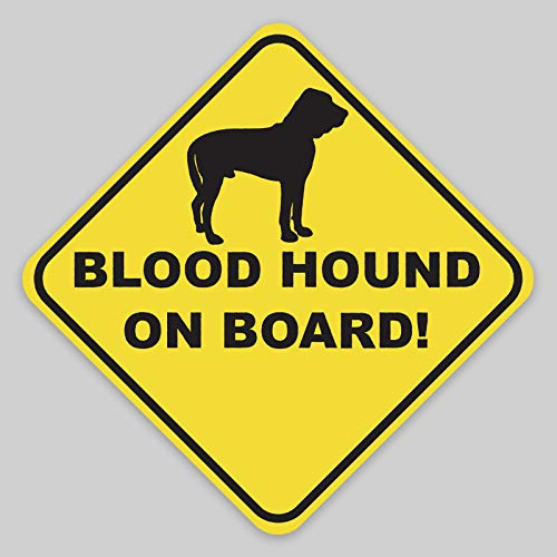 JMM Industries Blood Hound on Board Vinyl Decal Sticker Car Window Bumper 2-Pack 4-Inches by 4-Inches Premium Quality UV Protective Laminate PDS2044 ()