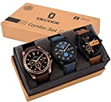 Decode Combo of 3 Analogue Multicolor Dial Mens and Boys Watches-Combo of 3 Exclusive Watches