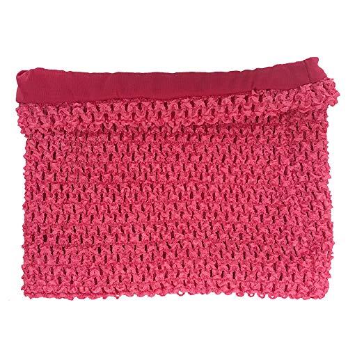 8inches Lined Crochet Tutu Tube Tops Chest Wrap for Girls DIY Tutu Dress Pettiskirt Tube Tops (Light Rose)
