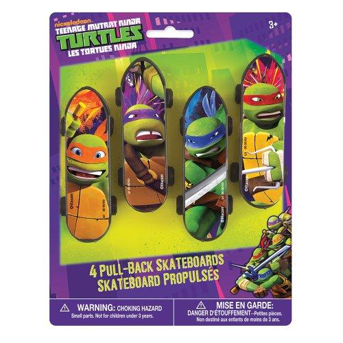 Teenage Mutant Ninja Turtles Mini Skateboards - Birthday & Theme Party Supplies - 4 per pack -