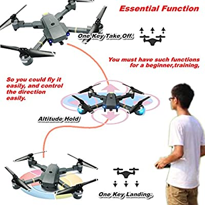 ATTOP XT-1 Foldable Mini RC Drones with HD Camera Live Video FPV Quadcopter by ATTOP