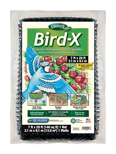 - Dalen 100055855 016069000073 Gardeneer by Bird-X Protective Netting 7' x 20' (1 Pack), 1Pack