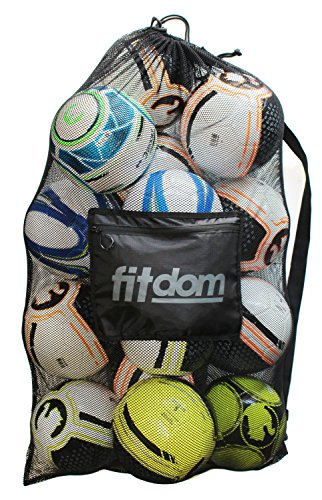 Heavy Duty Nylon Net (Extra Large Heavy Duty Soccer Ball Mesh Bag for Sports, Beach and Swimming Gears. Adjustable Shoulder Strap Made to Fit Adults and Kids. Secure Side Pocket for your Personal Item.)