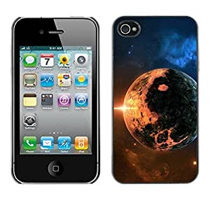 TopCaseStore / la caja del caucho duro de la cubierta de protección de la piel - Space Planet Galaxy Stars 8 - Apple iPhone 4 / 4S