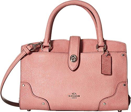 COACH Women's Glitter Rose Mercer 24 Satchel Sv/Glitter Rose Handbag