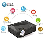 Best GENERIC Hd Home Theater Multimedia Lcd Led Projectors - Uvistar Wireless Home Cinema Multimedia Projector Mini Portable Review