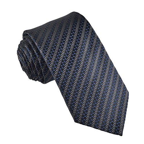 VOBOOM 100% Silk Necktie Men Woven Ties Standard Length, Extra Long, 10 Styles (310, Regular Length 58