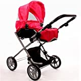 The New York Doll Collection 2-1 Bassinet Doll Stroller for Ages: 4+, Baby & Kids Zone