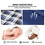 REDCAMP Cotton Flannel Sleeping Bags For Camping 41F5C 3 4 Season Warm And Comfortable Envelope Blue With 234lbs Filling 75x33