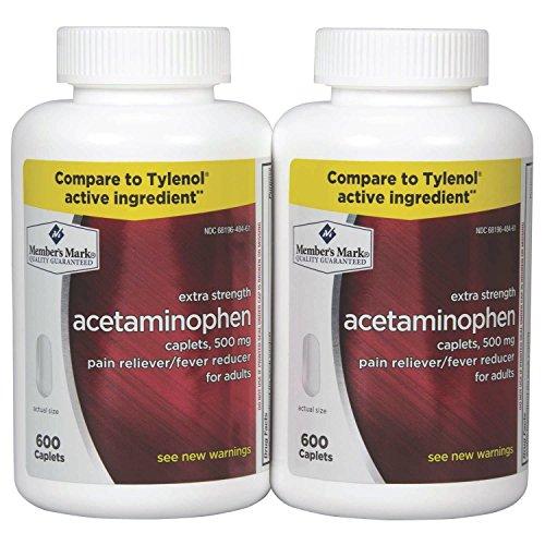 Member's Mark - Acetaminophen 500 mg, 1200 Caplets, Pain Reliever by Members Mark
