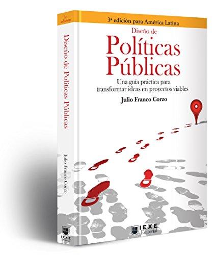 Portada del libro Diseño de Políticas Públicas de Julio  Franco Corzo