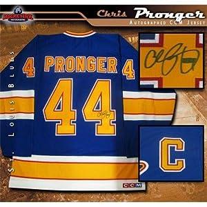 Autographed Chris Pronger Jersey - Blue CCM - Autographed NHL Jerseys