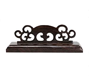 Rluii Display Holder Chinese Fan Decorative Stand Handy Fan Display Holder Wood Folding Fan Stand Holder/Sturdy Display Base/Large Hand Japanese Fan Holder by