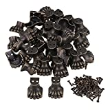 Mxfans 200pcs Antique Corner Protector for Wooden Jewelry Box Elephant Foot Type