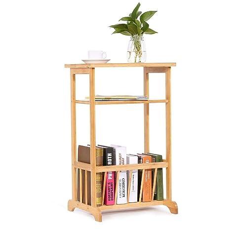 Amazon.com: Lapha - Mesa auxiliar de 2 pisos rectangular ...