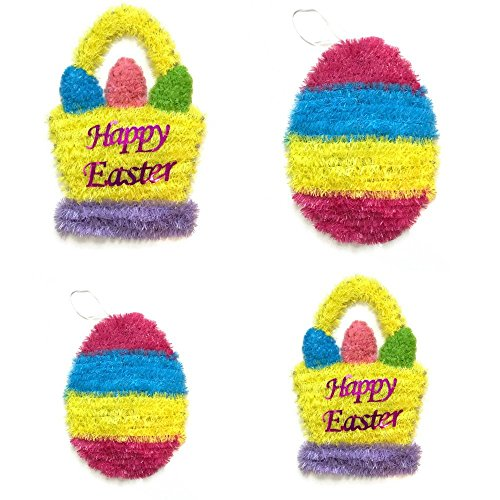 Easter Wall/Ceiling Hanging Decorations Bundle of 4: Happy Easter Baster and Easter Egg