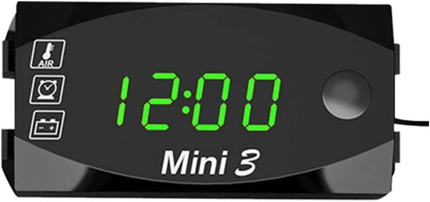 Ntribut Reloj Moto Digital Electrónico Dedicado Termómetro 3 In 1, Manillar Montaje Reloj Moto