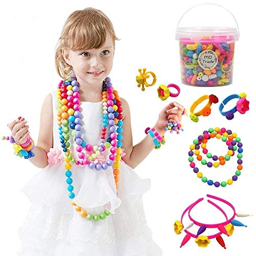 520 Pcs Pop Snap Beads Art Craft Sets Jewelry Making Kit for Girls DIY Necklaces, Bracelets, Rings by Md trade