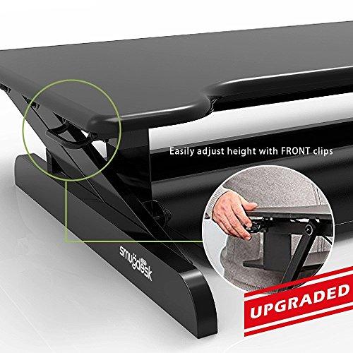 Smugdesk Standing Desk, Stand up Adjustable Desk Riser Converter for Desktop Laptop Dual Monitor by Smugdesk (Image #3)'