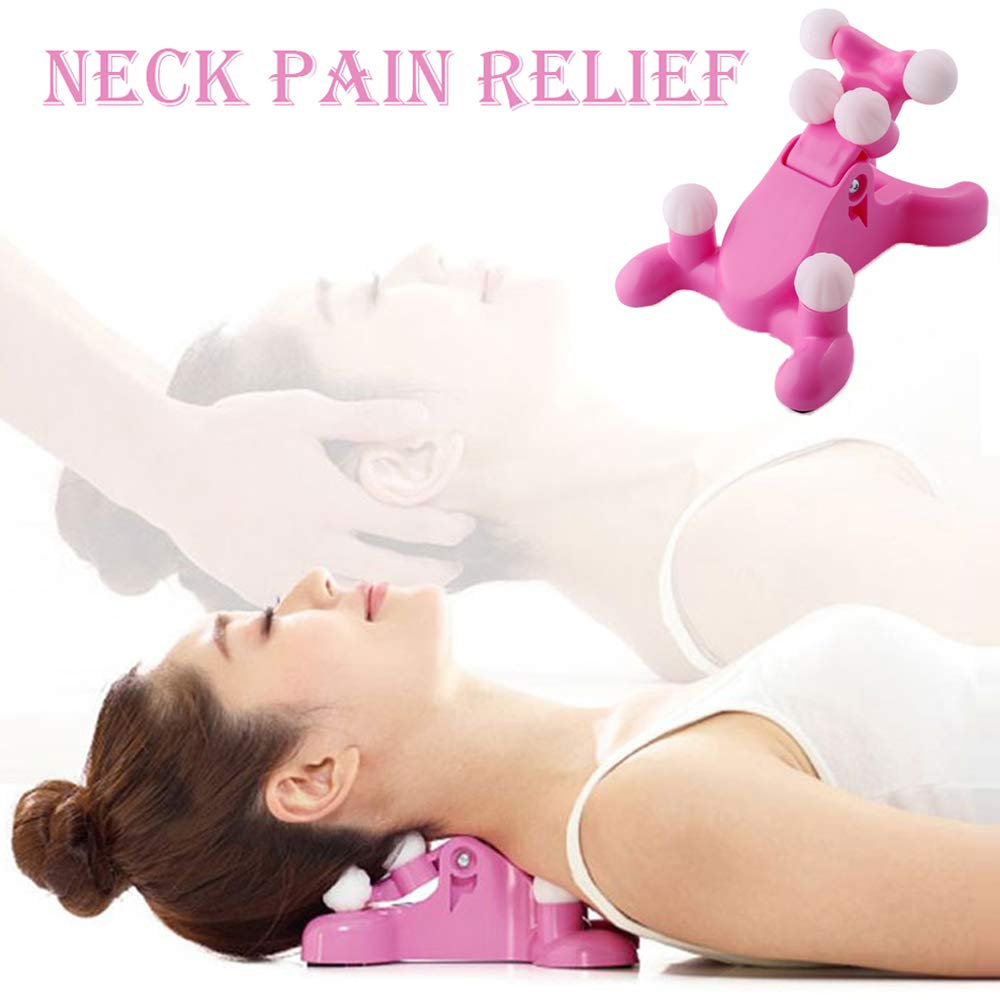 Cervical Spine Alignment Chiropractic Pillow,Neck and Head Pain Relief Back Massage Traction Device Support Relaxer, Tension Headache Relief, 6 Trigger Point Therapy, Improved Mobility by mwellewm