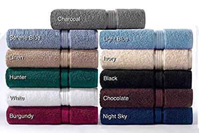 Cotton Craft Ultra Soft 6 Piece Towel Set, Luxurious 100% Ringspun Cotton, Heavy Weight & Absorbent, Rayon Trim - 2 Oversized Large Bath Towels 30x54, 2 Hand Towels 16x28, 2 Wash Cloths 12x12