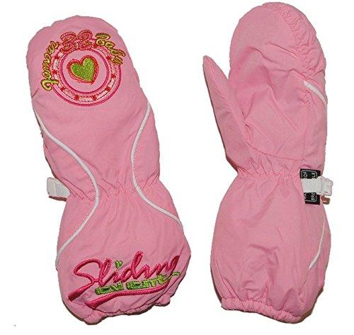 Handschuh mit langem Schaft - rosa pink Herz Thermo gefüttert Thermohandschuh - Größen: 6 Monate bis 3 Jahre - Fausthandschuh Handschuhe