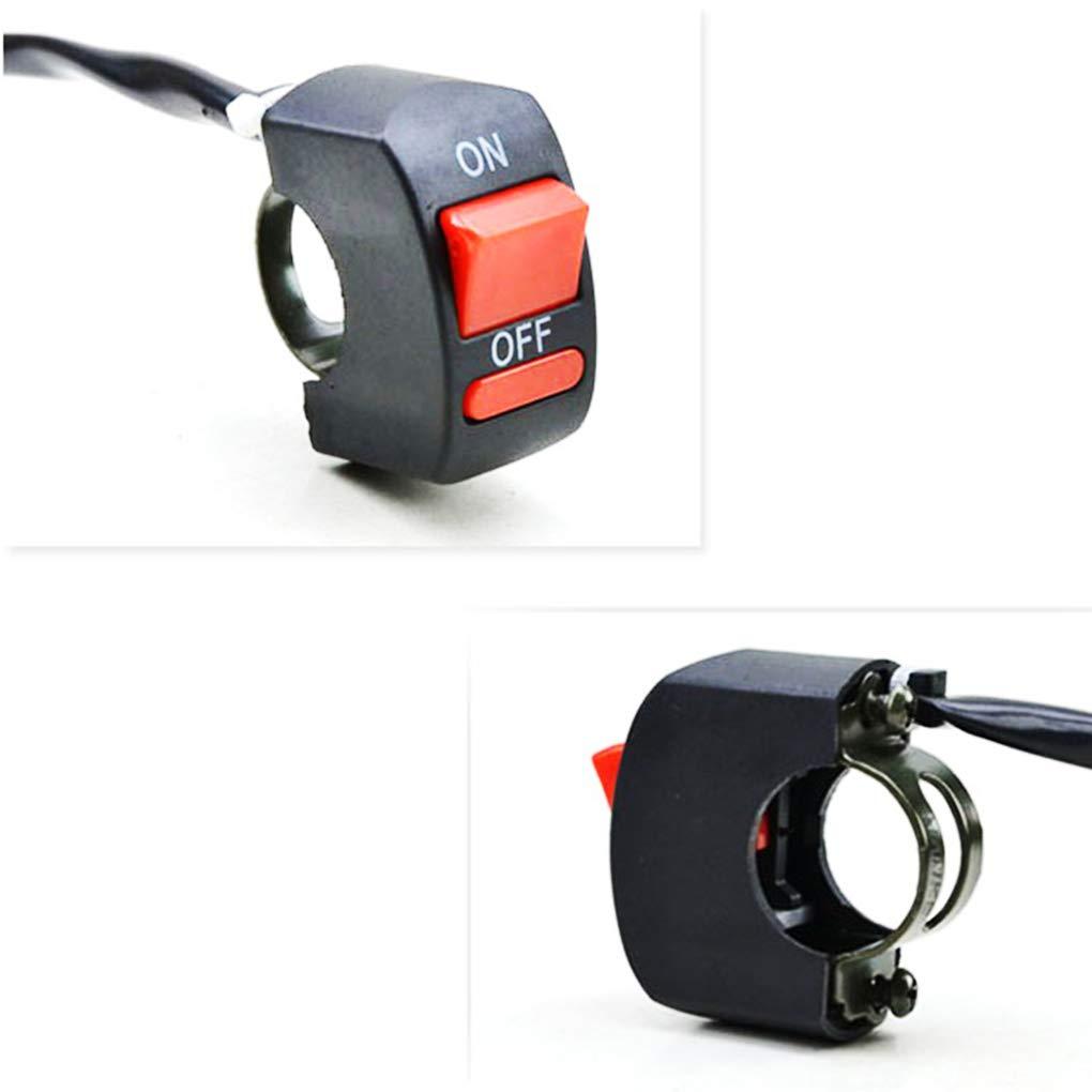 Universale Manubrio del Motociclo Flameoff LED Headlight Pulsante on//off Interruttore Moto Accessoies Regard