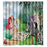 ScottShop Custom Best The Little Mermaid and Sleeping Beauty Shower Curtain Decoration Waterproof Polyester Fabric Bathroom Shower Curtains 66 'x 72' Inch