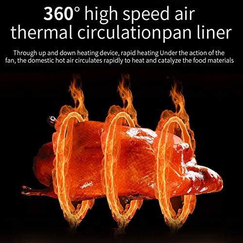 Freidora Sin Aceite 4.5L con Panel Táctil Tiempo Y Temperatura Ajustable Freidora De Aire Caliente 500W con Función De Pausa Y Reinicio Regalo Ideal