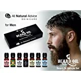 BEARD OIL Complete Sample Set Including 7 Best Selling Scents - Organic Leave-In Conditioner for Men with Beards and Mustaches - Smooth Touch - Anti-Itch / Anti-Inflammatory - Works great as a substitute for shaving cream! The New Sample Set!