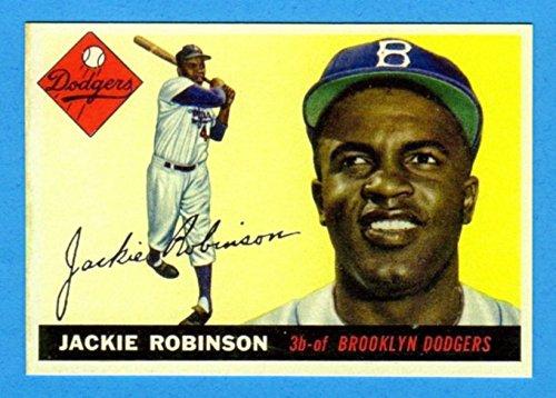 Jackie Robinson 1955 Topps Baseball Reprint Card (Dodgers)