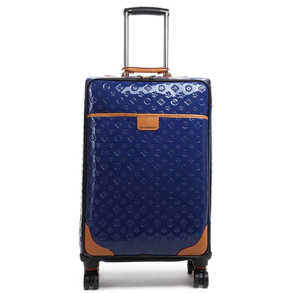 ZHANGQIANG ハンドトラベル荷物トロリーケース 荷物/かばん、レバー韓国の柔らかい香ユニバーサルホイール搭乗パッケージ (色 : 青, サイズ さいず : Large(20)) Large(20) 青 B07PP6DWCF