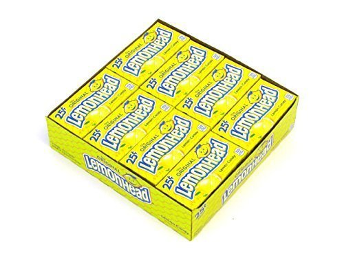 Lemonhead Candy Boxes, 24 count